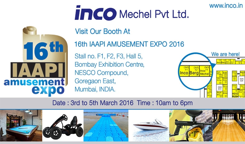 Visit Inco Mechel at IAAPI AMUSEMENT EXPO 2016