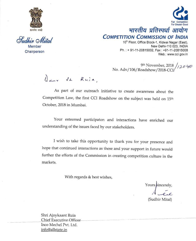 Big Certificate - Inco